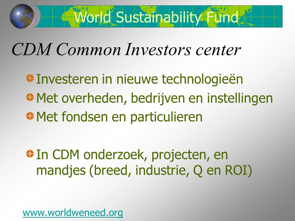 CDM Common Investors center