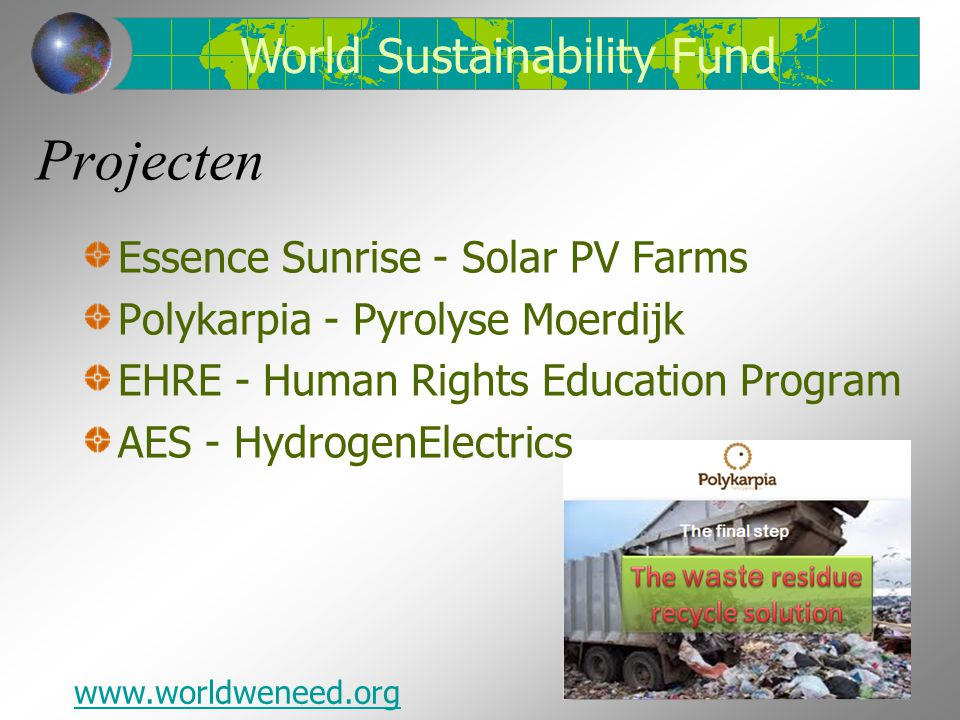 Projecten World Sustainability Fund Essence Sunrise - Solar PV Farms