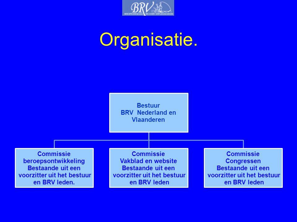 Organisatie. Bestuur BRV Nederland en Vlaanderen