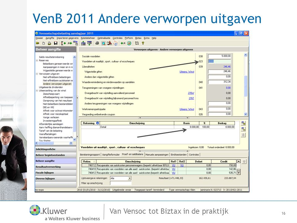 VenB 2011 Andere verworpen uitgaven