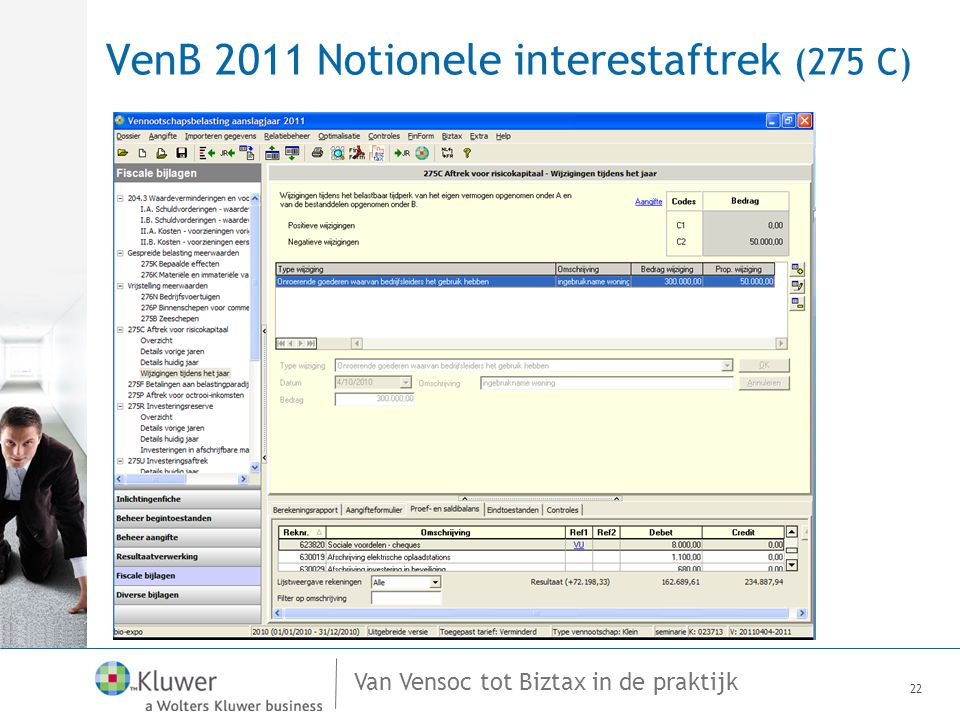 VenB 2011 Notionele interestaftrek (275 C)