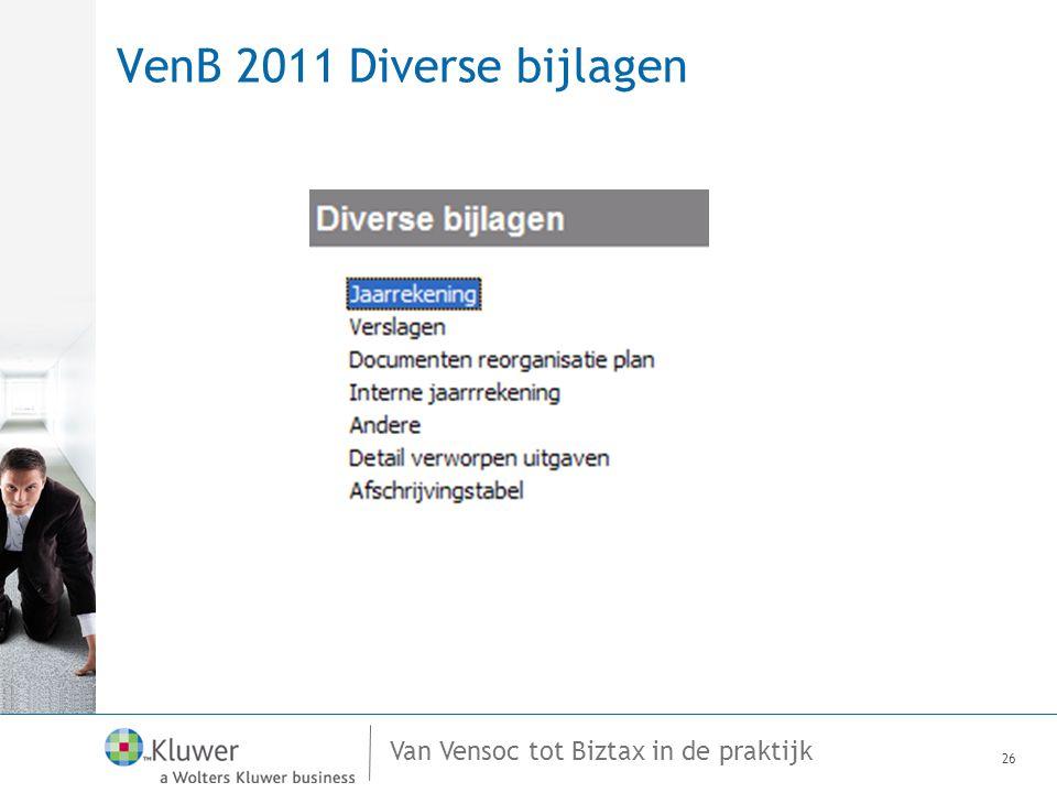 VenB 2011 Diverse bijlagen