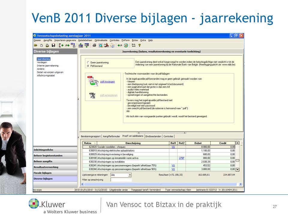 VenB 2011 Diverse bijlagen - jaarrekening