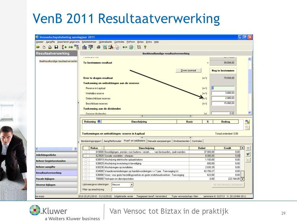 VenB 2011 Resultaatverwerking