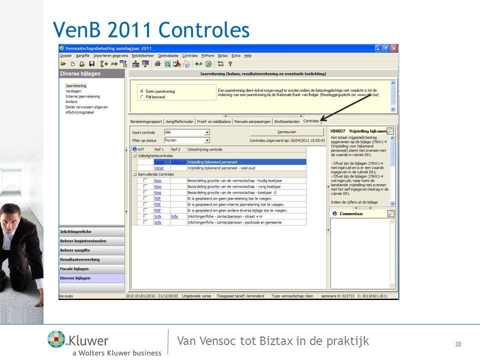 VenB 2011 Controles