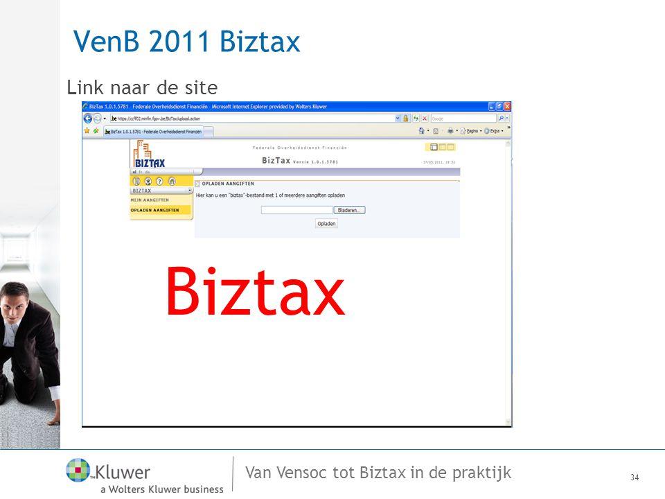 VenB 2011 Biztax Link naar de site BizTax Biztax