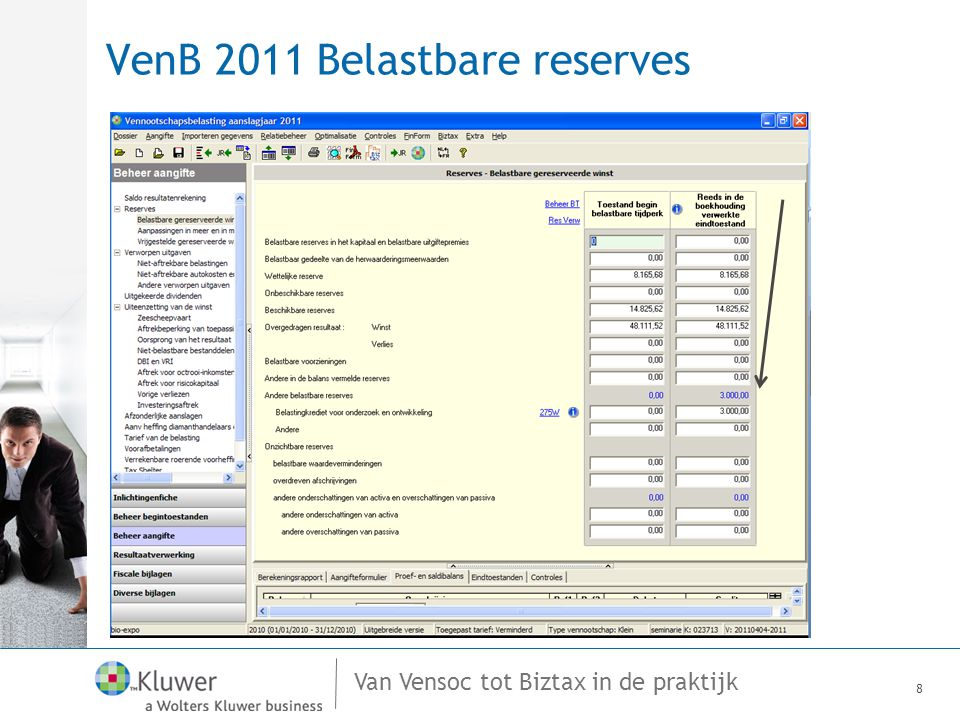 VenB 2011 Belastbare reserves