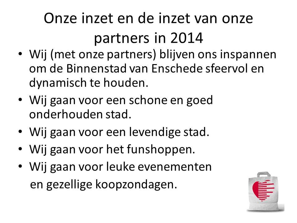 Onze inzet en de inzet van onze partners in 2014