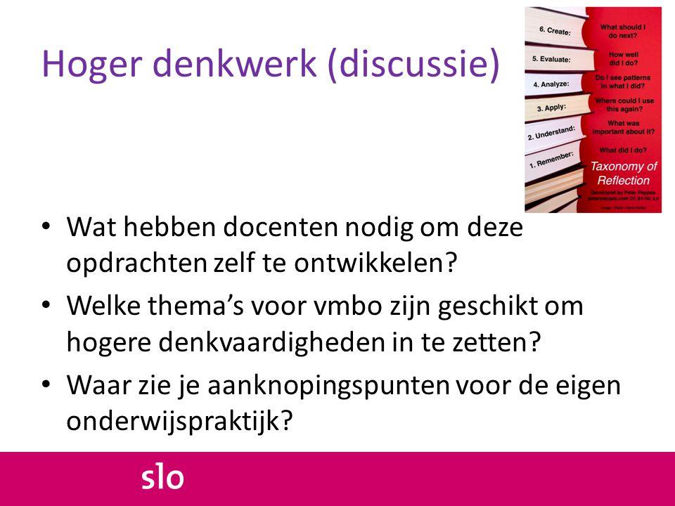 Hoger denkwerk (discussie)