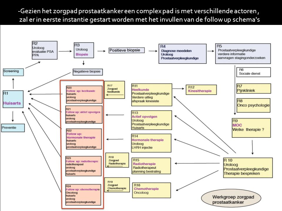 -Gezien het zorgpad prostaatkanker een complex pad is met verschillende actoren ,