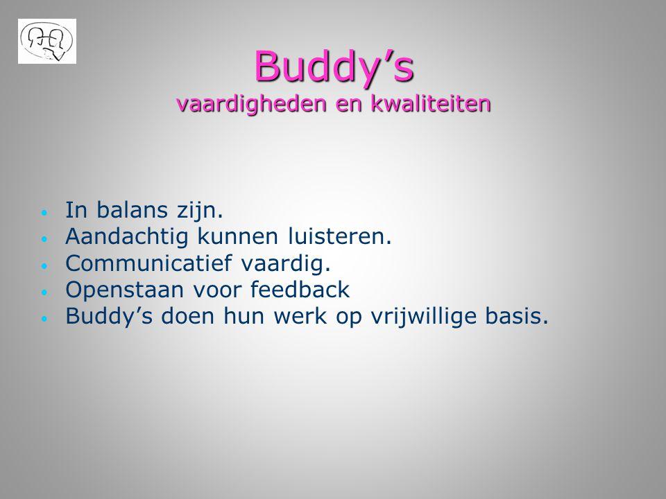 Buddy's vaardigheden en kwaliteiten