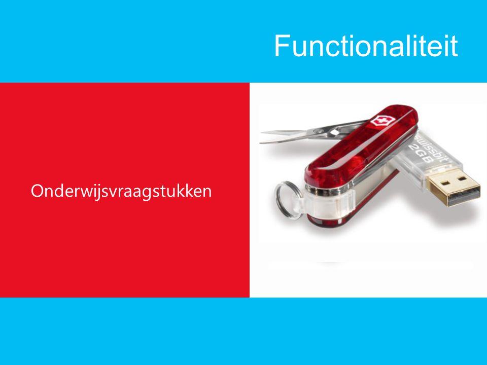 Functionaliteit Onderwijsvraagstukken