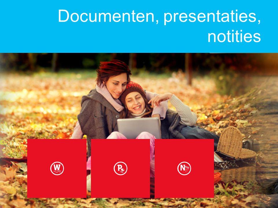 Documenten, presentaties, notities