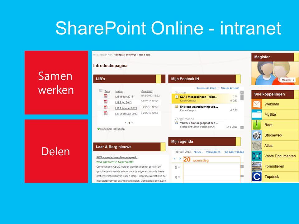 SharePoint Online - intranet