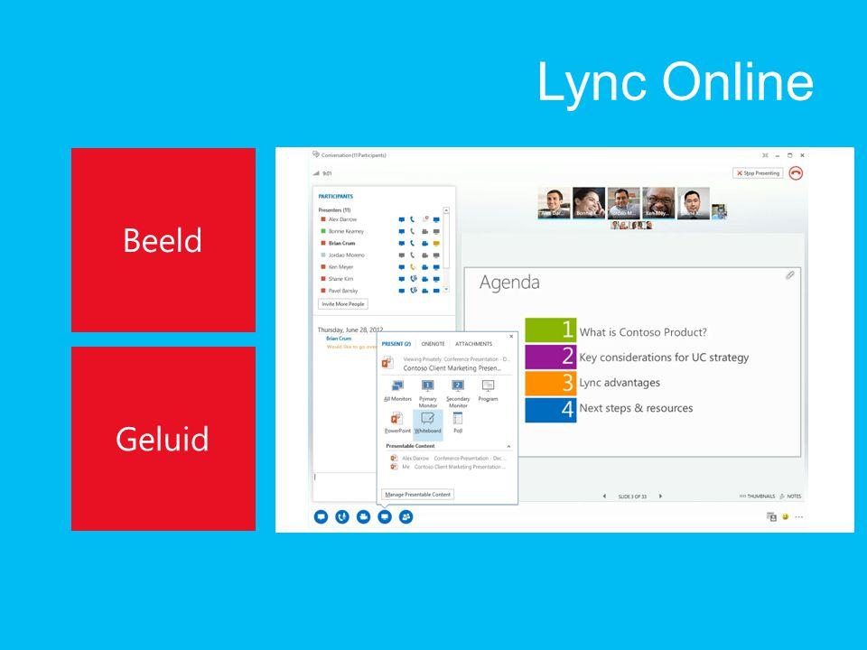 Lync Online Beeld Geluid