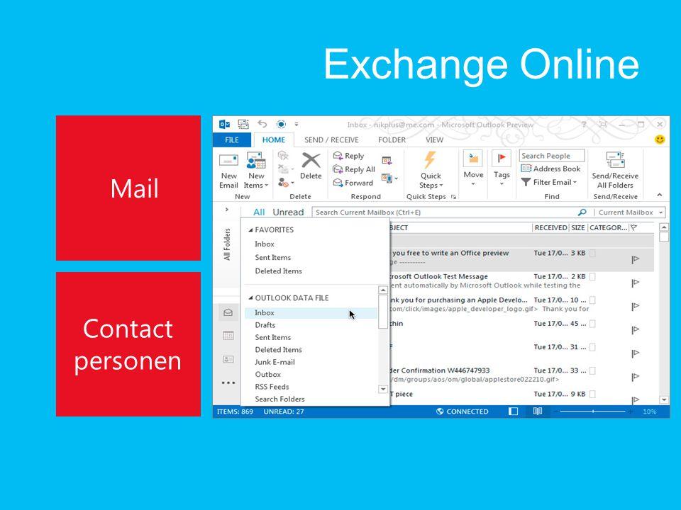 Exchange Online Mail Contact personen