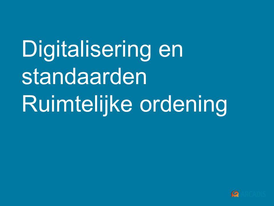Digitalisering en standaarden Ruimtelijke ordening
