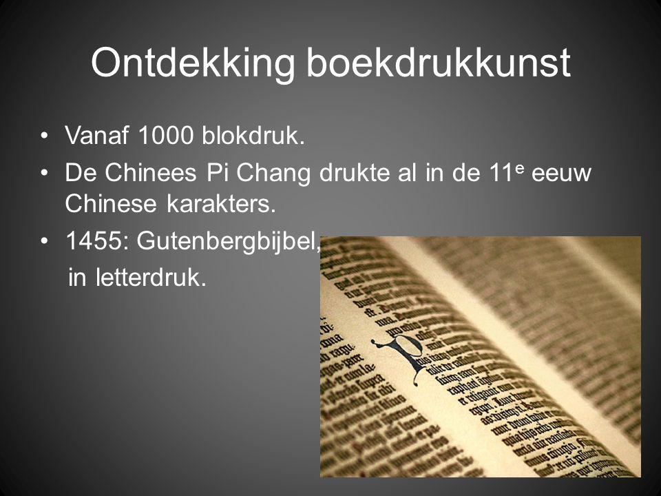 Ontdekking boekdrukkunst