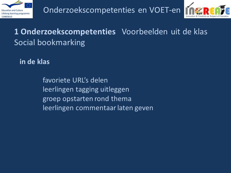 Onderzoekscompetenties en VOET-en