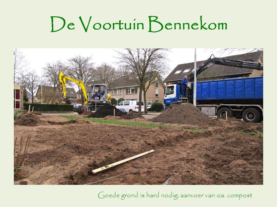 De Voortuin Bennekom Goede grond is hard nodig; aanvoer van oa. compost