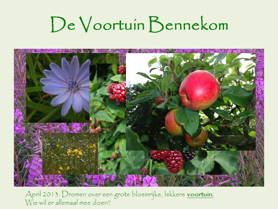 De Voortuin Bennekom April 2013. Dromen over een grote bloemrijke, lekkere voortuin.