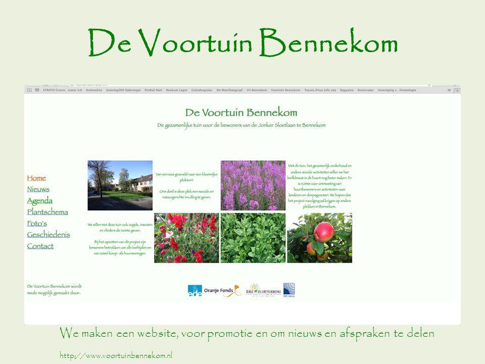 De Voortuin Bennekom We maken een website, voor promotie en om nieuws en afspraken te delen.
