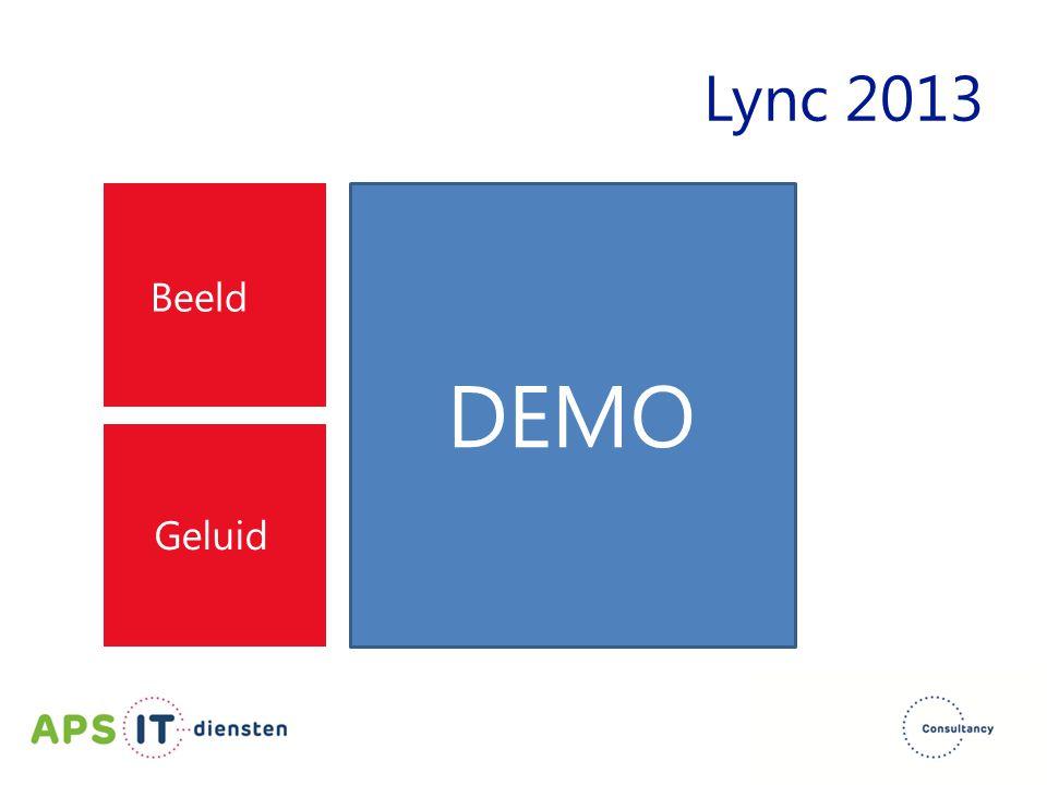 Lync 2013 Beeld DEMO Geluid