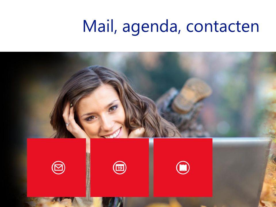 Mail, agenda, contacten
