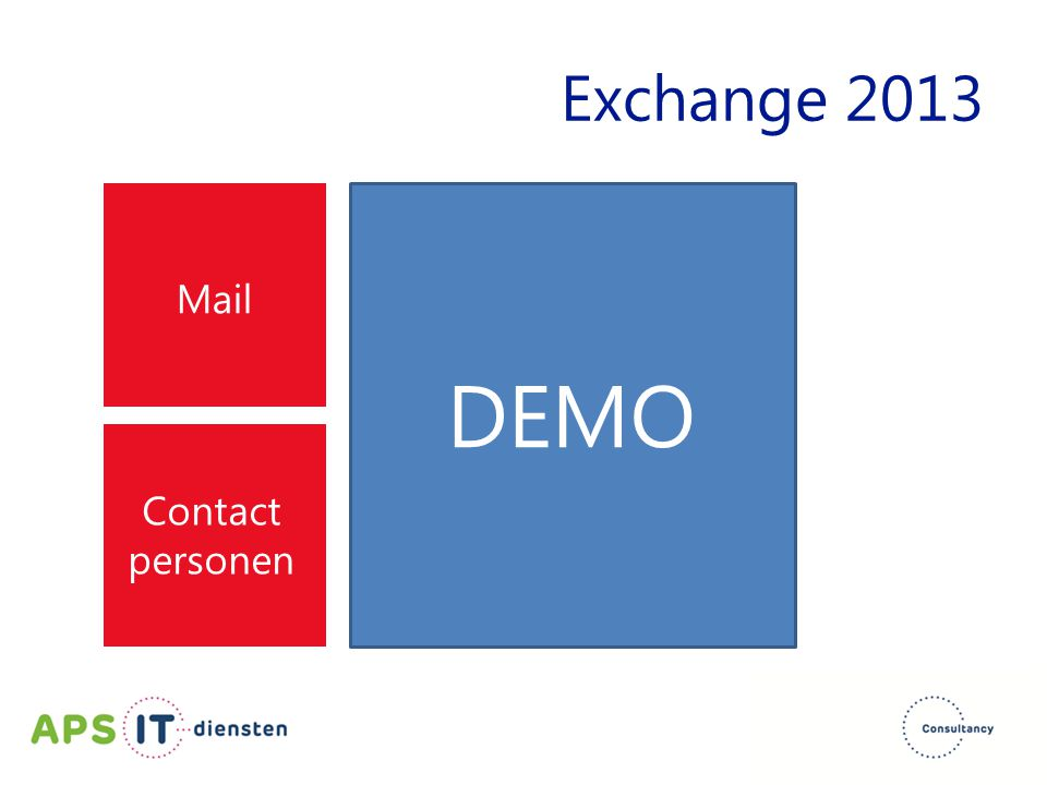 Exchange 2013 Mail DEMO Contact personen
