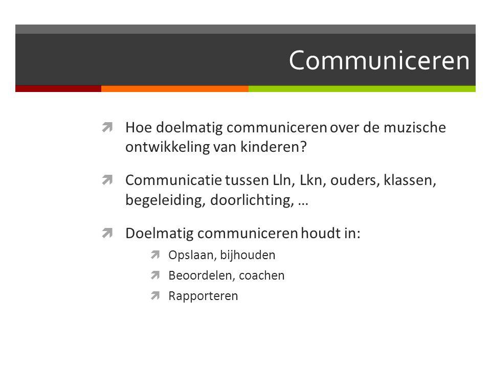 Communiceren Hoe doelmatig communiceren over de muzische ontwikkeling van kinderen