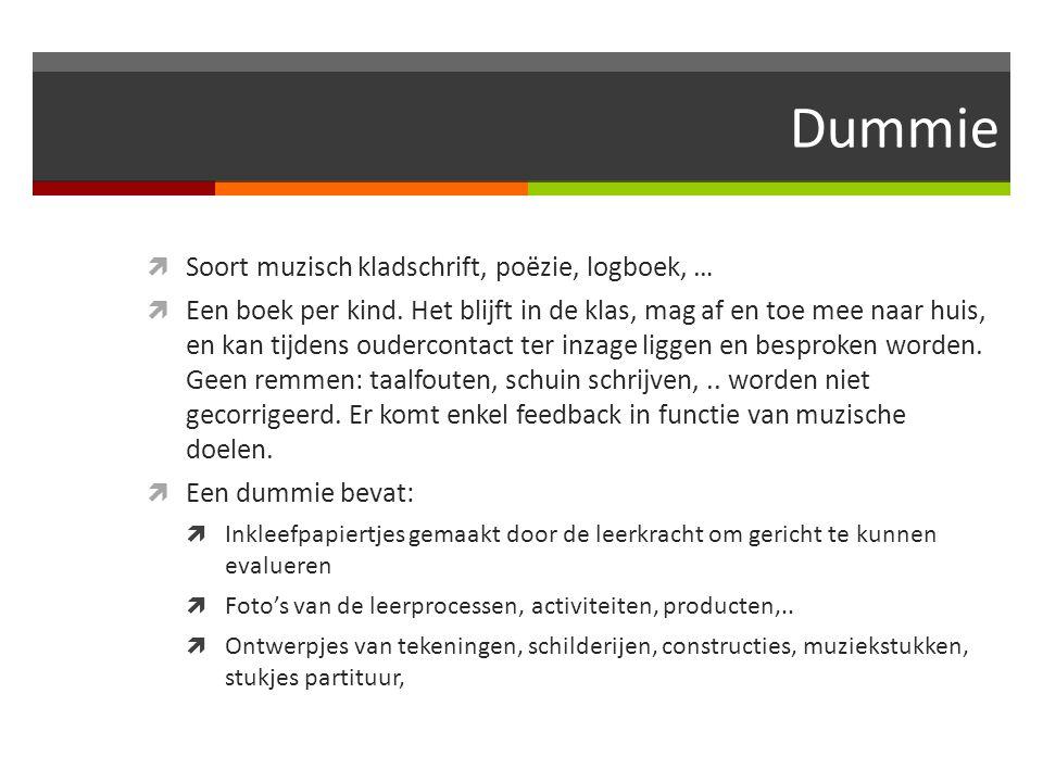 Dummie Soort muzisch kladschrift, poëzie, logboek, …