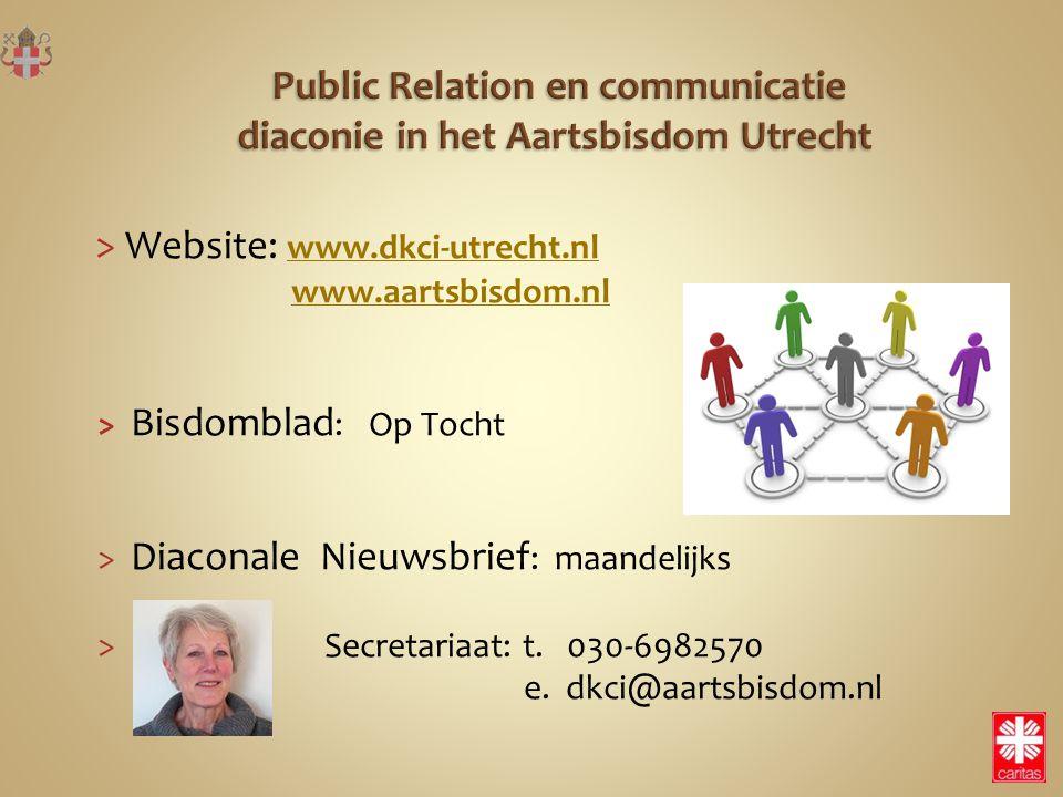 Public Relation en communicatie diaconie in het Aartsbisdom Utrecht