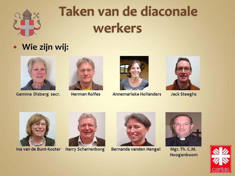 Taken van de diaconale werkers