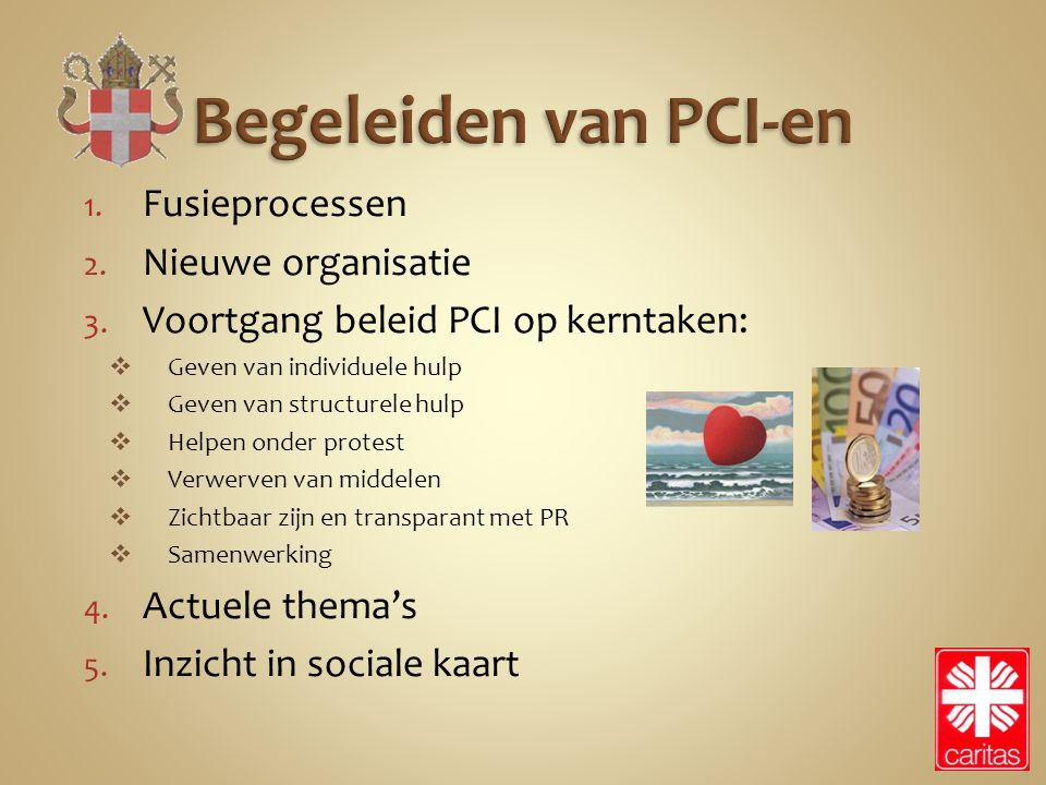 Begeleiden van PCI-en Fusieprocessen Nieuwe organisatie