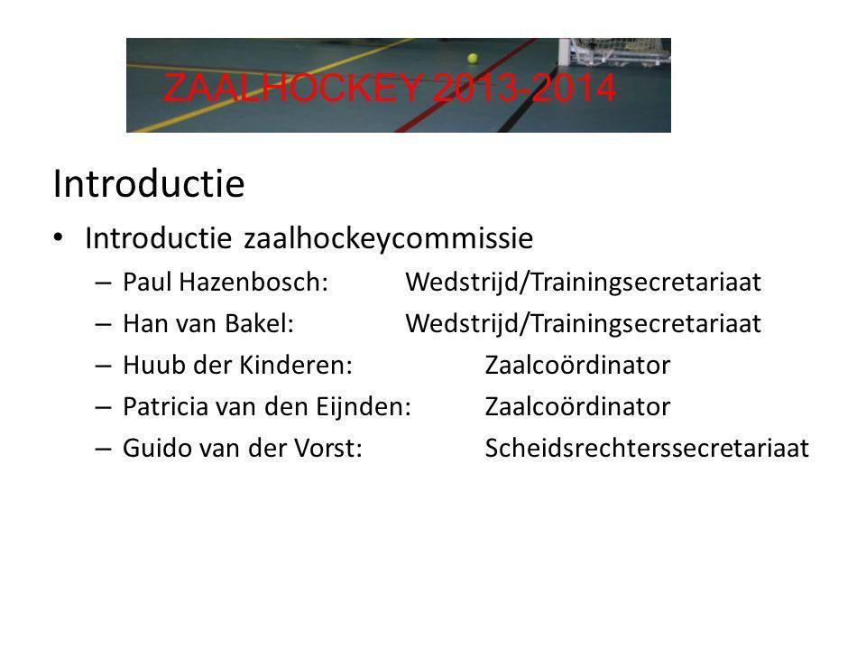 Introductie ZAALHOCKEY 2013-2014 Introductie zaalhockeycommissie