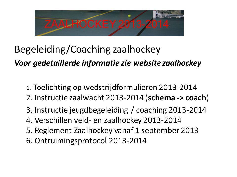 Begeleiding/Coaching zaalhockey