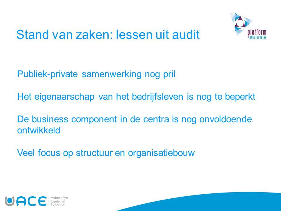 Stand van zaken: lessen uit audit