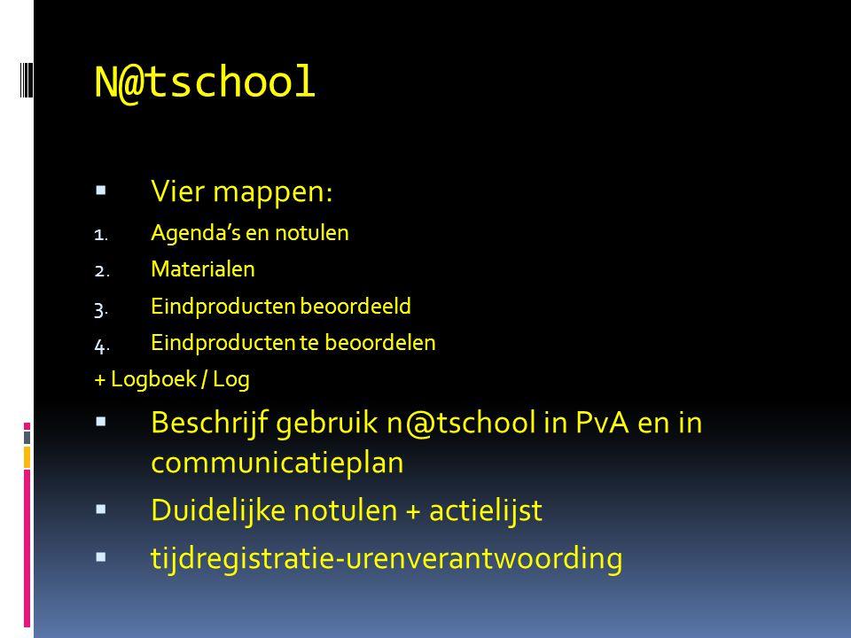 N@tschool Vier mappen: