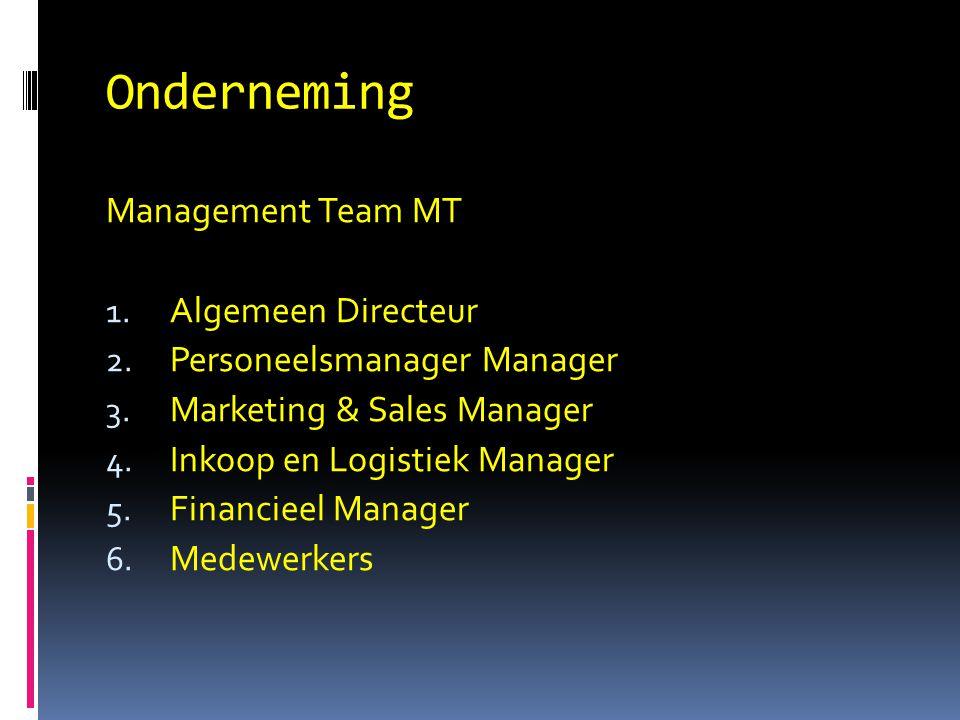 Onderneming Management Team MT Algemeen Directeur