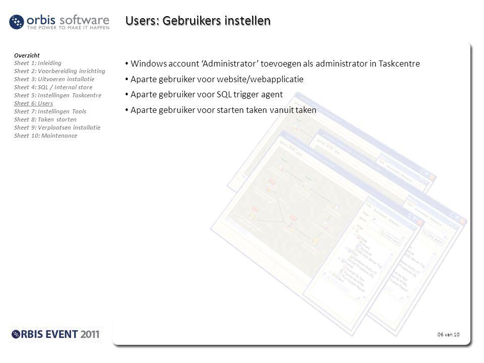 Users: Gebruikers instellen