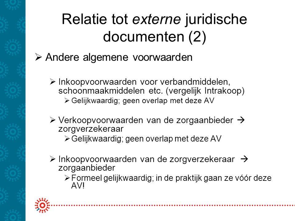 Relatie tot externe juridische documenten (2)