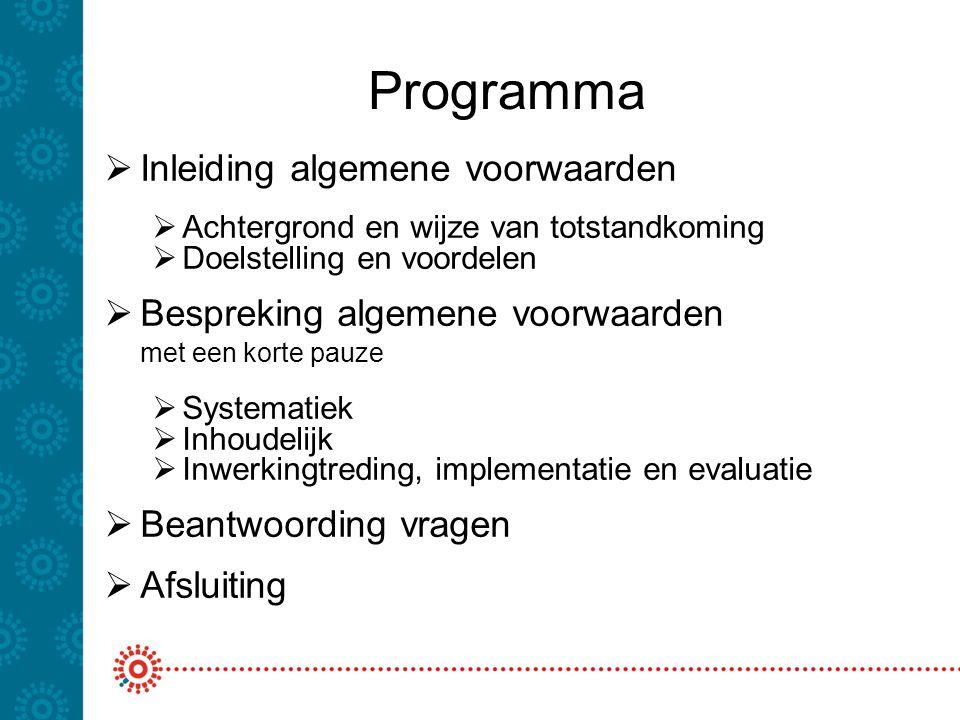 Programma Inleiding algemene voorwaarden