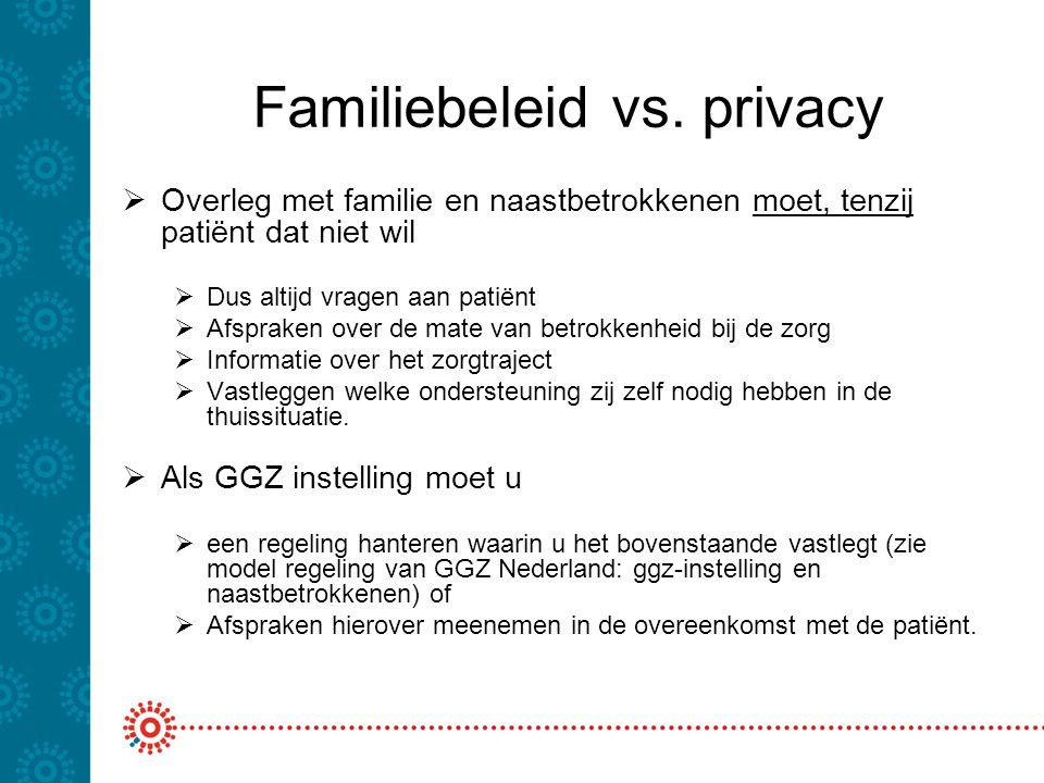 Familiebeleid vs. privacy