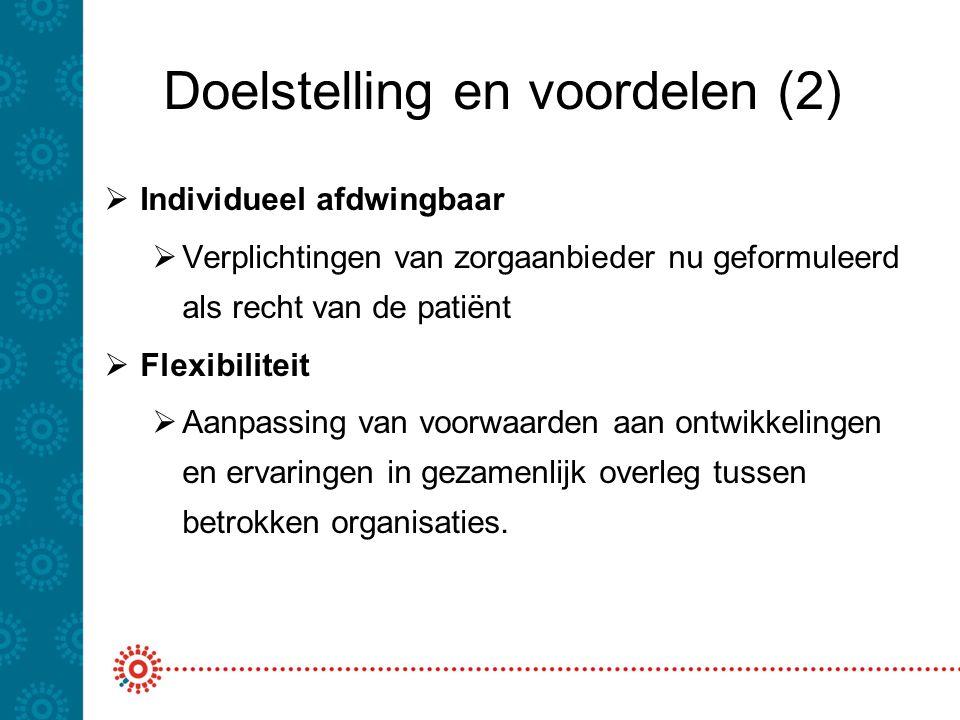 Doelstelling en voordelen (2)