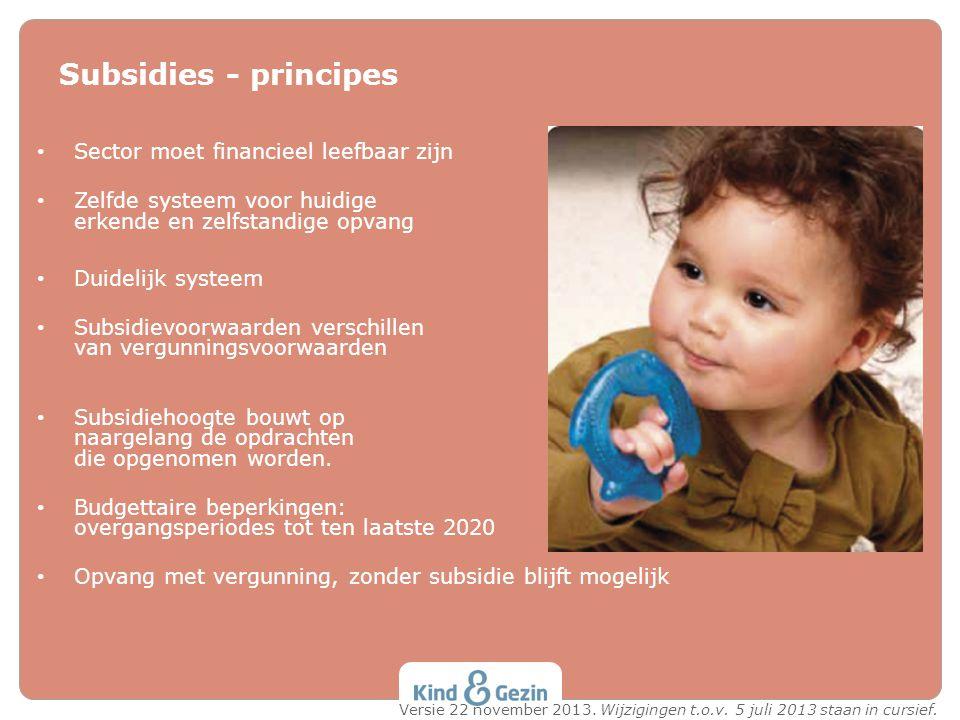 Subsidies - principes Sector moet financieel leefbaar zijn