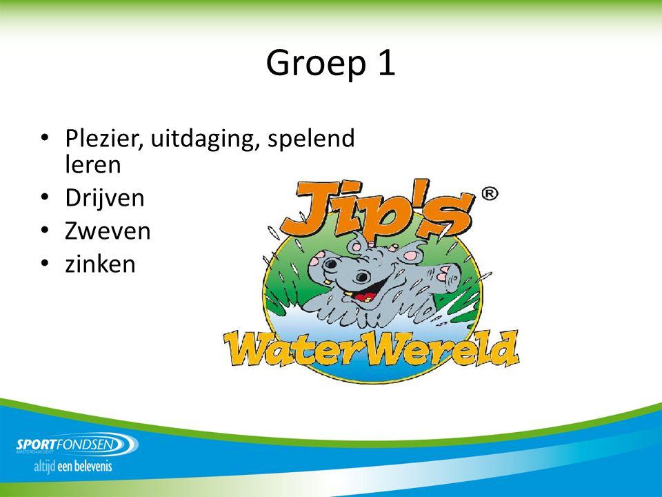 Groep 1 Plezier, uitdaging, spelend leren Drijven Zweven zinken