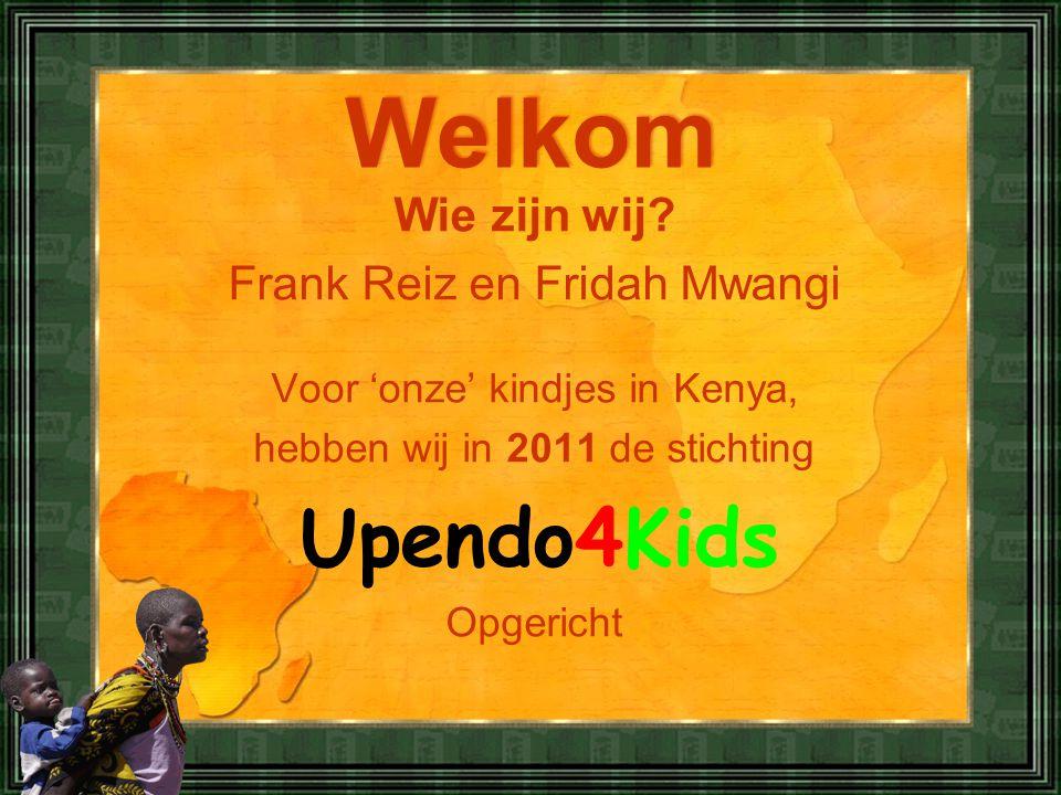 Welkom Wie zijn wij Frank Reiz en Fridah Mwangi