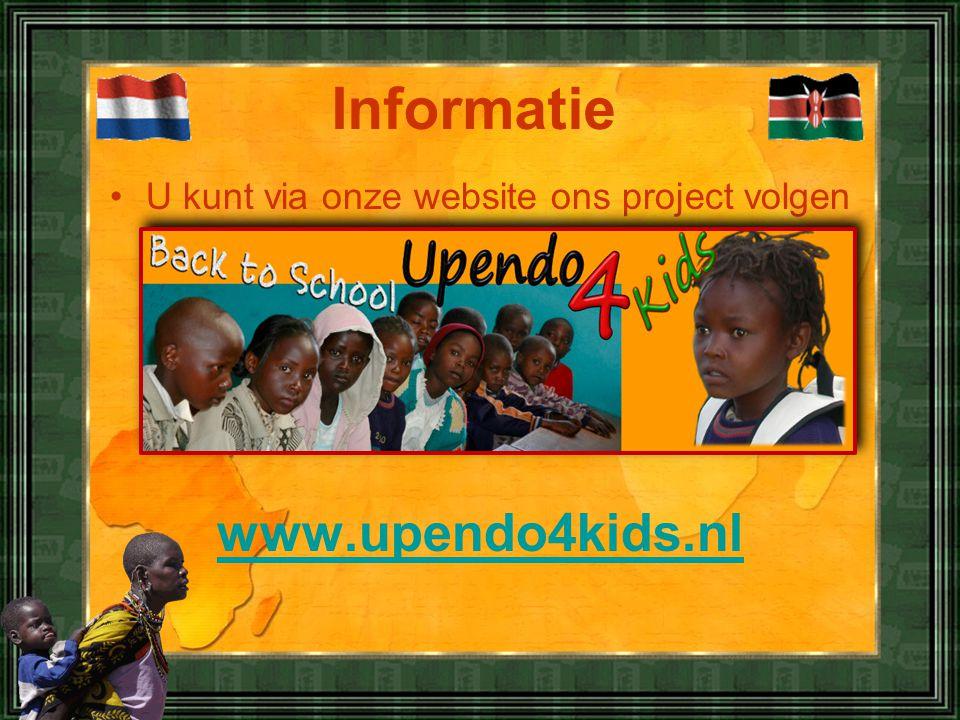 U kunt via onze website ons project volgen
