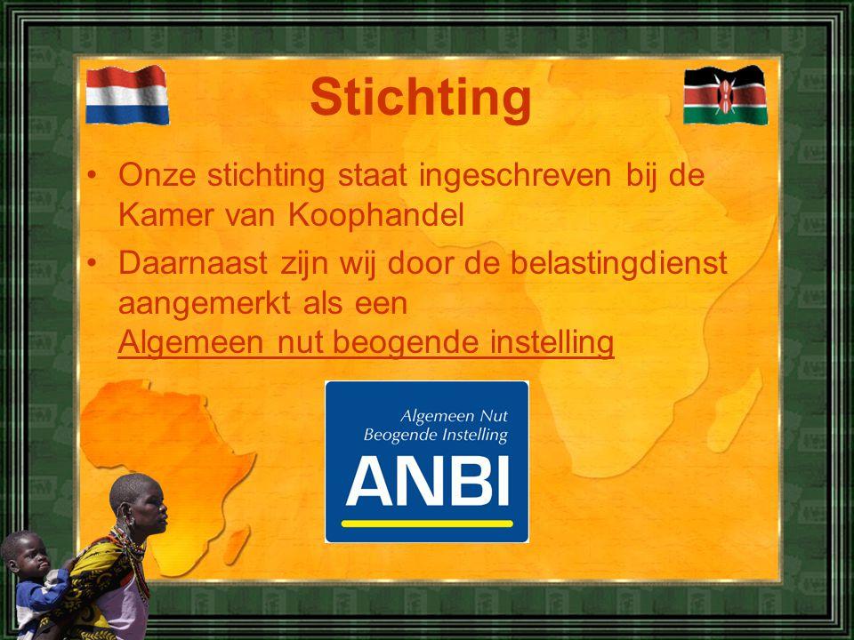 Stichting Onze stichting staat ingeschreven bij de Kamer van Koophandel.