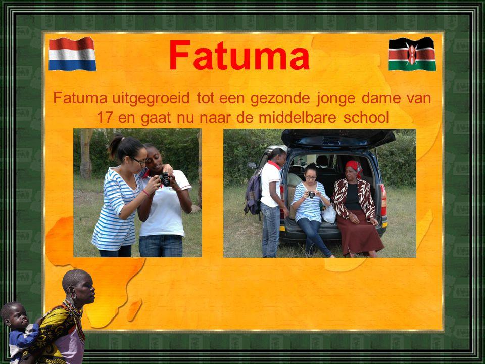 Fatuma Fatuma uitgegroeid tot een gezonde jonge dame van 17 en gaat nu naar de middelbare school